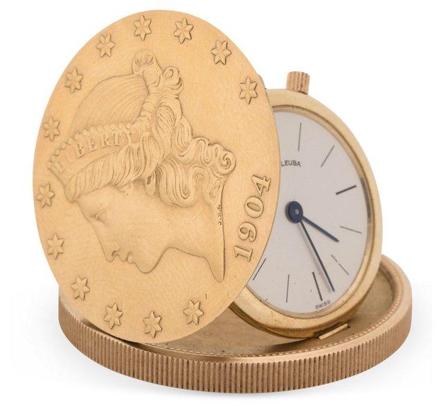 1960s Favre-Leuba Coin Pocket Watch