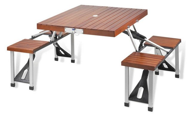 Portable Picnic Table Set, Brown