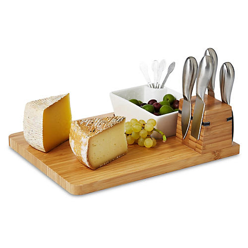 Cutting Board & Tools Set, Natural