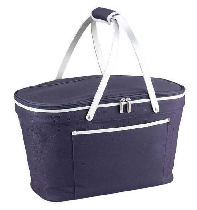 Collapsible Basket Cooler, Navy