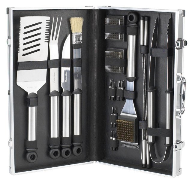 20-Pc Stainless-Steel Grill Tools