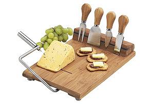 Stilton Cheese Board w/ Tools, Natural