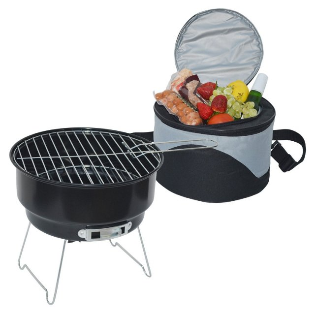 Cooler & Grill Set, Black/Gray