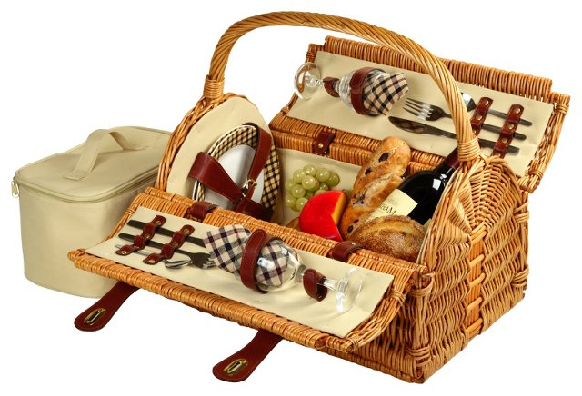 Sussex Picnic Basket for 2, Natural