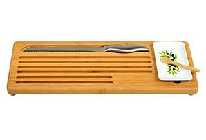 Bamboo Bread Board & Dipping Bowl Set