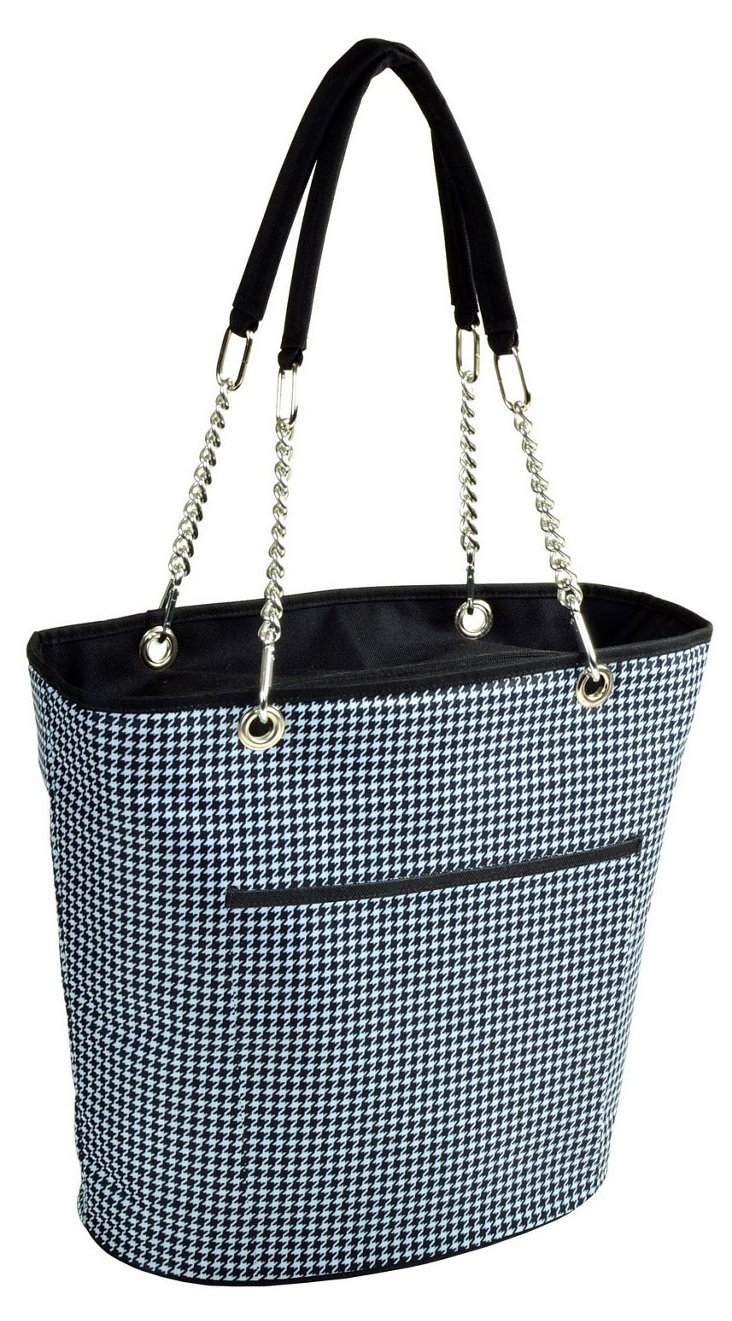 Med. Insulated Cooler Tote, Houndstooth