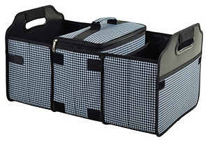 Trunk Organizer and Cooler, Black/White