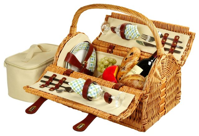 Sussex Picnic Basket for 2, Reed Willow