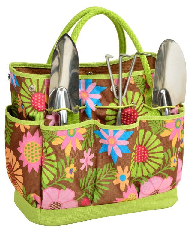 Garden Tote w/ Tools, Floral