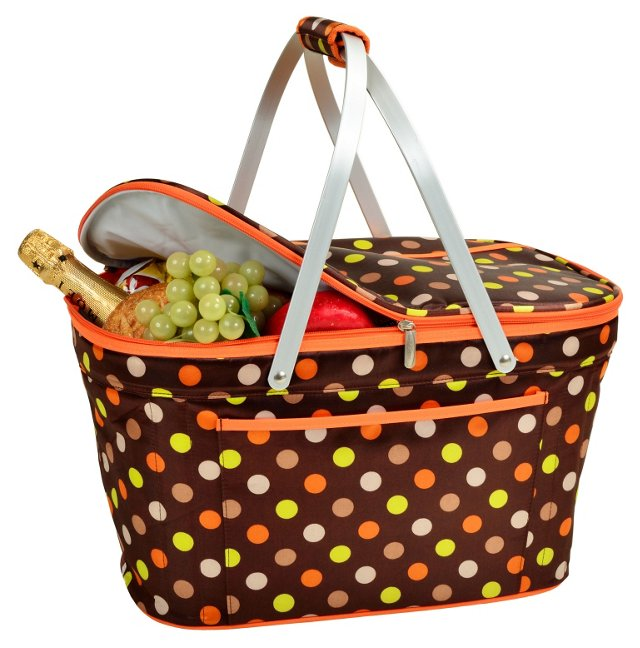 Collapsible Basket Cooler, Julia Dot