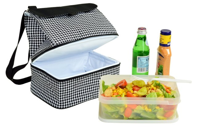 Lunch Cooler & Container, Houndstooth