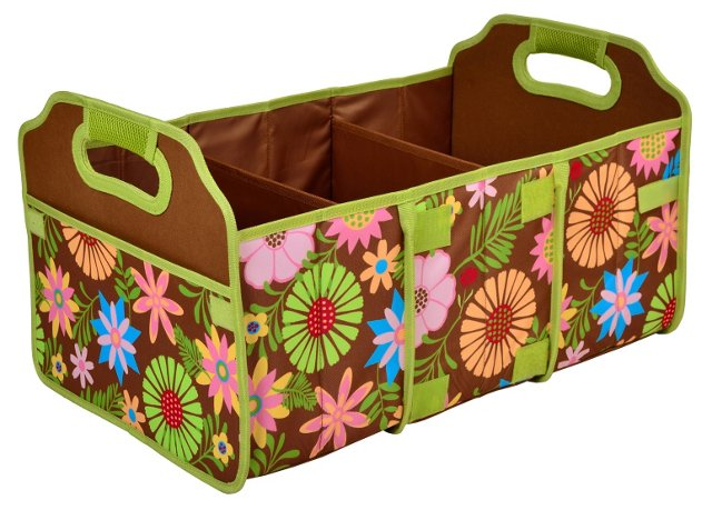 Foldable Trunk Organizer, Floral