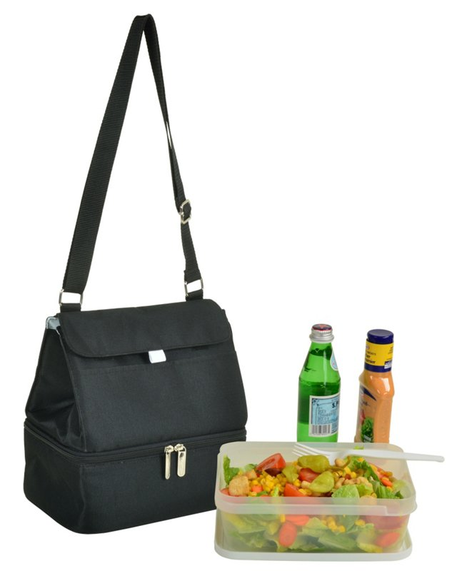 Lunch Cooler & Container, Black