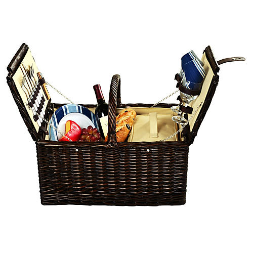 Surrey Picnic Basket for 2, Brown