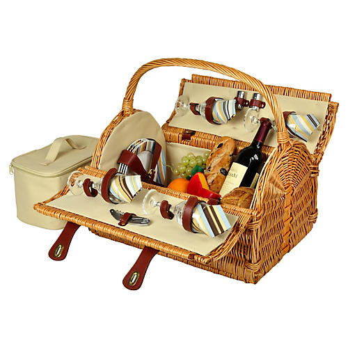Yorkshire Picnic Basket for 4, Natural