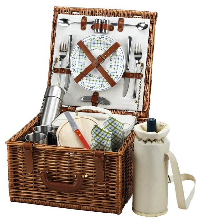 Cheshire Basket w/ Coffee Service, Brown