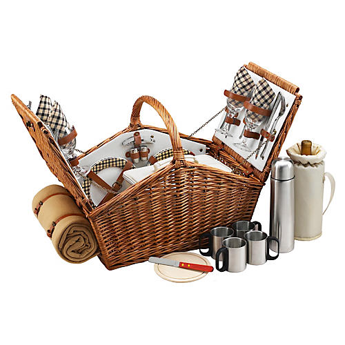 Huntsman Basket w/ Coffee Set & Blanket