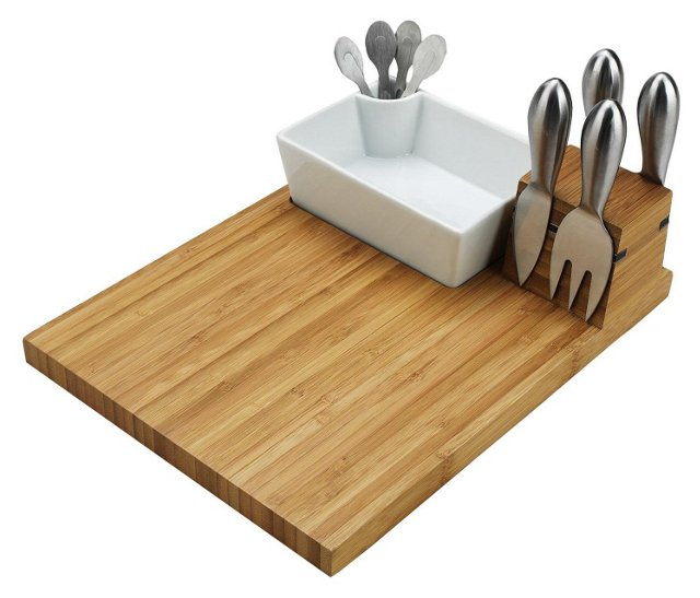 Buxton Bamboo Cheese Board Serving Set