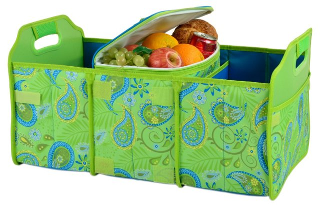 Trunk Organizer and Cooler Set, Paisley