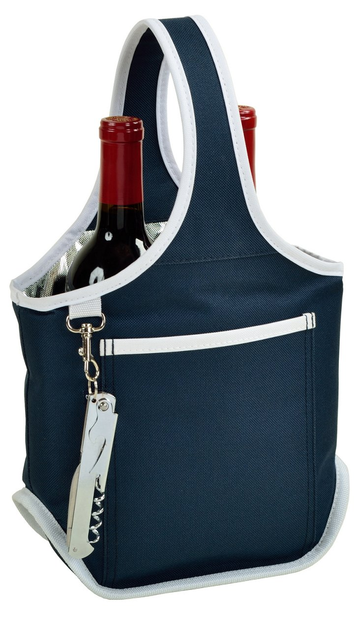 Two-Bottle Carrier, Navy