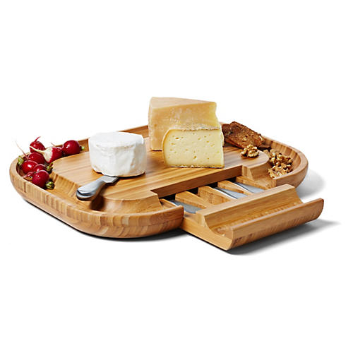 Malvern Deluxe Cheese Board Set, Bamboo