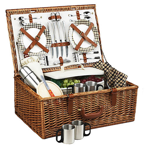 Dorset Basket for 4 w/ Coffee service
