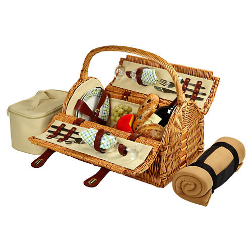 Sussex Picnic Basket for 2 w/ Blanket