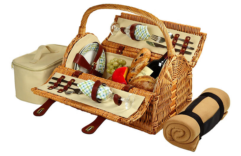 Sussex Picnic Basket for 2 with Blanket