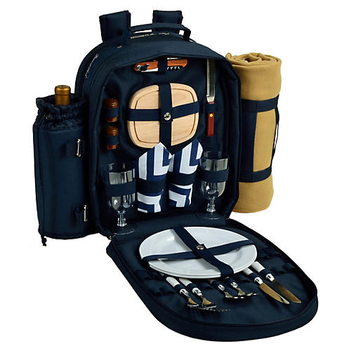 Picnic Backpack Cooler for Two, Navy