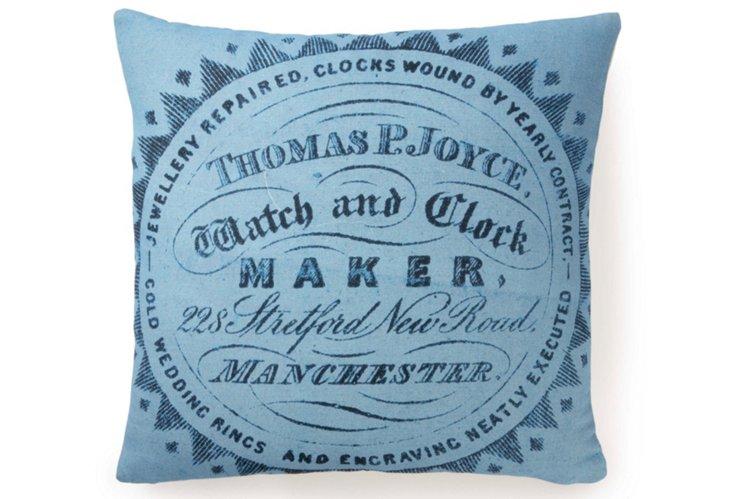 Watch Maker 20x20 Pillow, Blue