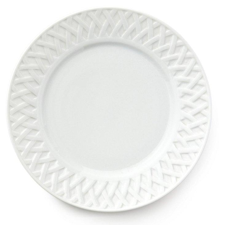 S/6 Louisiane B&B Plates, White