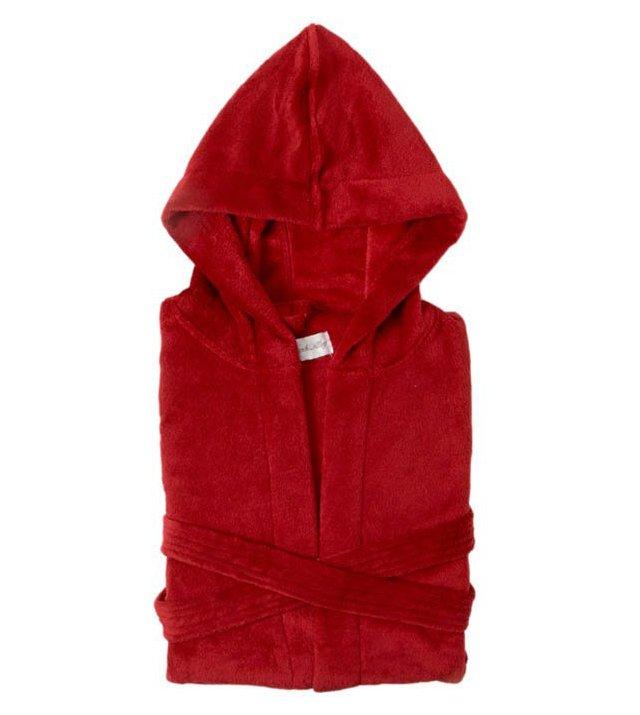 Serenity Hooded Robe, Berry