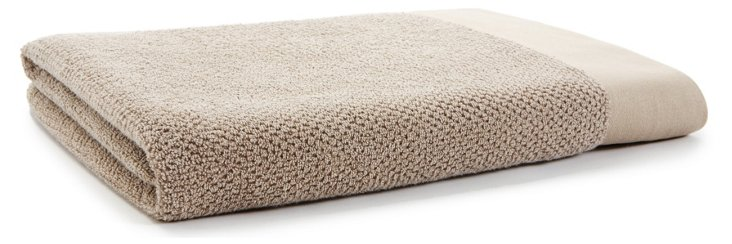 Laurent Stone Washed Bath Sheet, Taupe