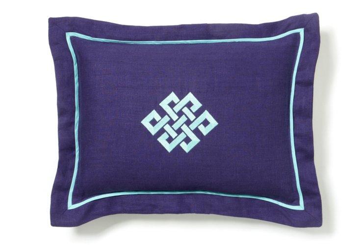 Boudoir Pillow, Purple/Aqua