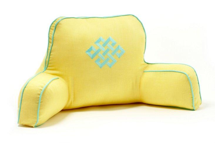 Sunshine Boyfriend Pillow w/ Green Trim