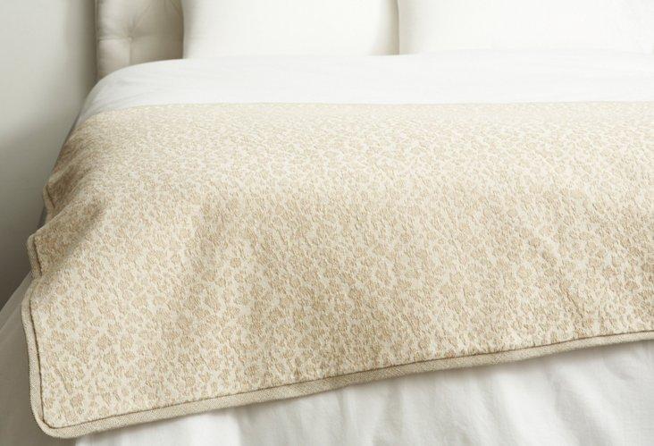 Cheetah Bed Scarf, Pearl