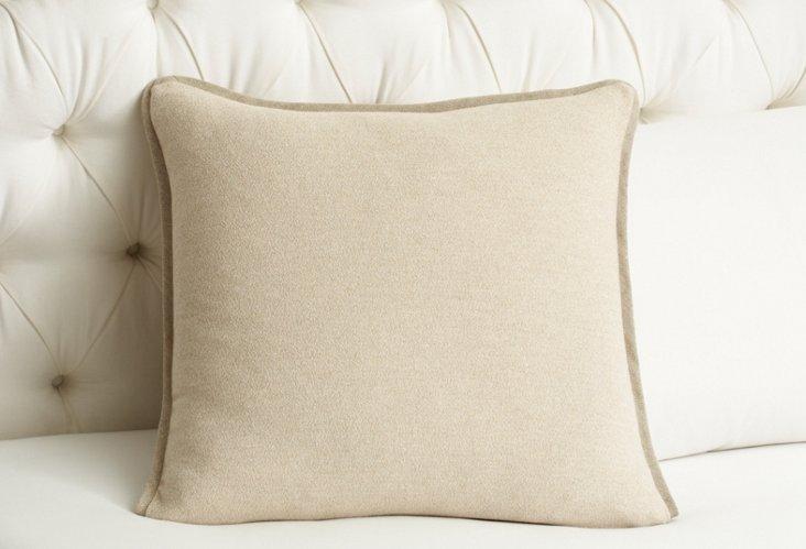 Pebble Square Pillow, Pearl