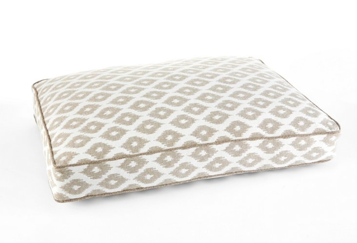 Ikat Floor Pillow, Linen