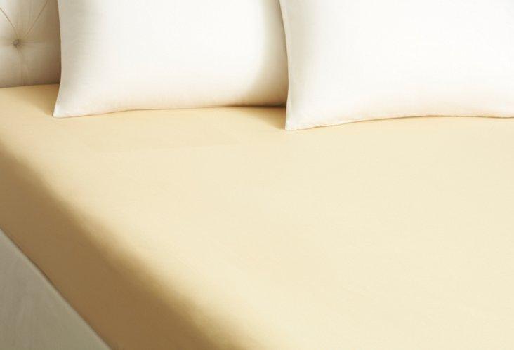 Queen Verona Sateen Fitted Sheet, Gold