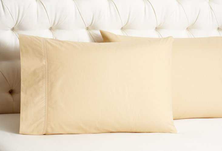 Verona Sateen Std Pillowcases, Gold