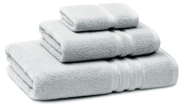3-Pc Boca Towel Set, Glacier