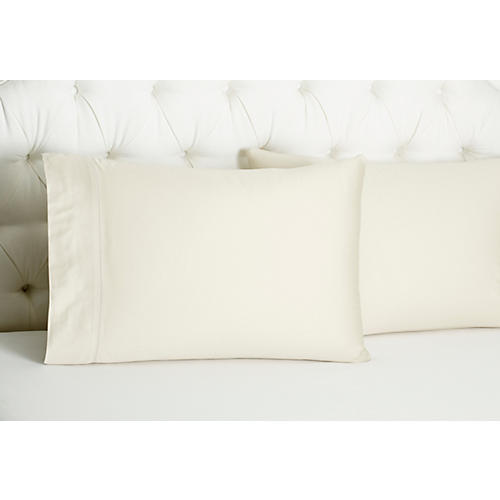 S/2 Arabesque Std Pillowcases, Linen