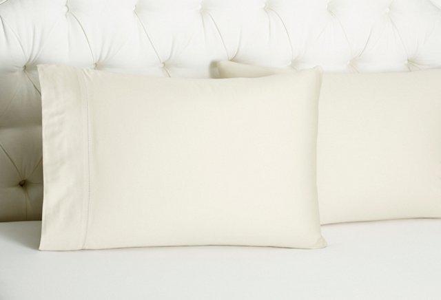 S/2 Arabesque Std Pillowcases, Linen