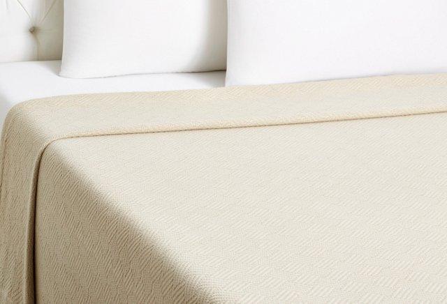 Trellis Blanket, Linen