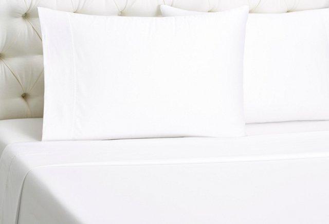Ziggy Embroidered Sheet Set, White