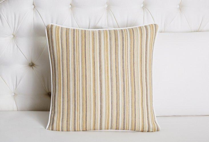 Sardinia Square Pillow, Linen