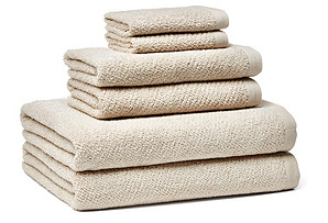 6-Pc Amalfi Towel Set, Linen