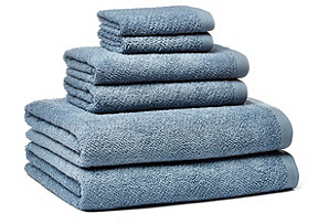 6-Pc Amalfi Towel Set, Topaz