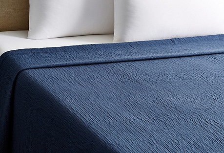 Philippe Stonwashed Coverlet, Navy