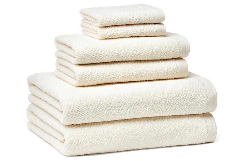 6-Pc Amalfi Towel Set, Ivory